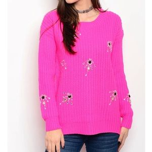 Sweaters - 🆕 JACKY FUCHSIA OVERSIZED SWEATER